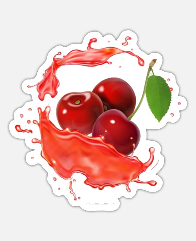 Orchard Stickers - Delicious Juicy Cherries. Fruit T Shirt. - Sticker white matte