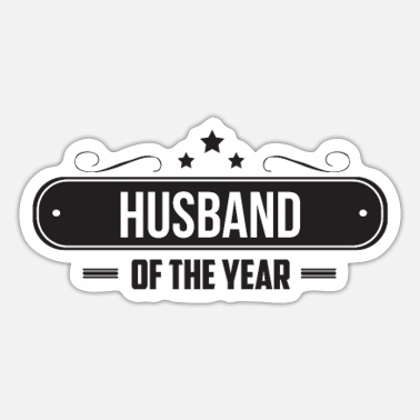 Husband Husband Of The Year - Husband - Sticker