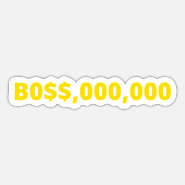 Success B0$$,000,000 - Millionaire Boss (Yellow Gold Color - Sticker