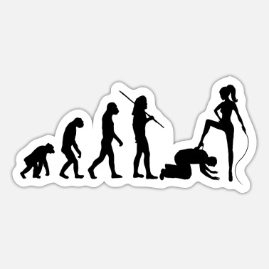 Domina Evolution - Domina and Male Slave - Sticker