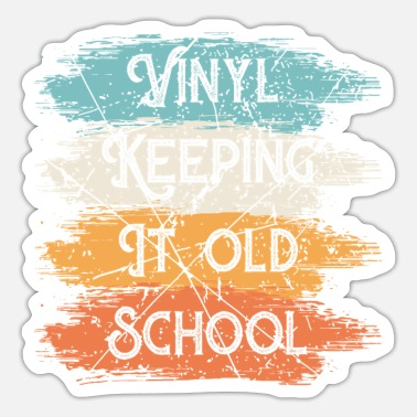 Turn Table Vinyl Old School Turntable Turn Tables LPs Disc - Sticker
