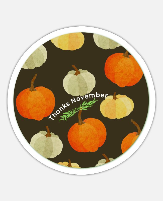 Thankful Stickers - Thanks November - Sticker white matte
