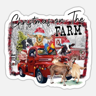 Farm Christmas On The Farm - Sticker