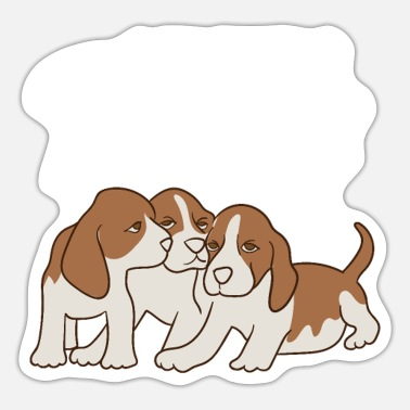 Sibling Love Sibling Love Puppy Design for Sisters and Brothers - Sticker