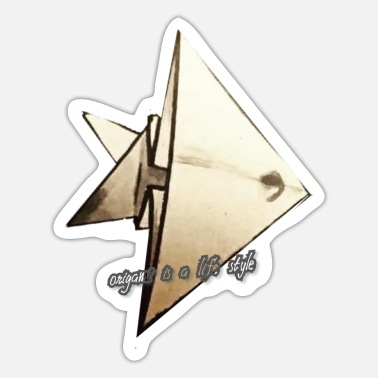 Origami origami is a life style - Sticker