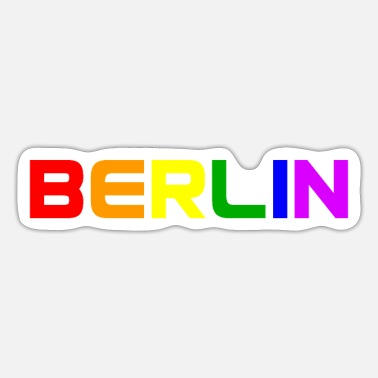 Deutschland Berlin - gay - lesbian - Rainbow Colors - LGBT - C - Sticker