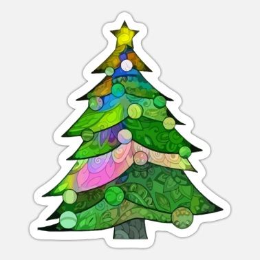 Christmas Tree Christmas Tree - Sticker