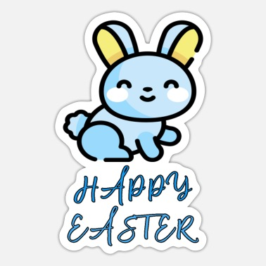 Bunny Rabbit Happy Easter Rabbit - Sticker