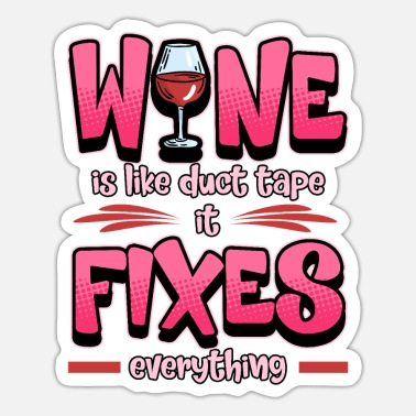 White Wine Funny Wine Red Wine White Wine Winemaker Gift - Sticker