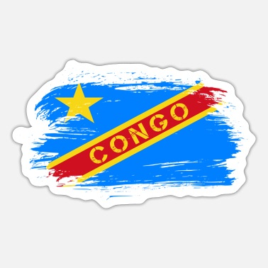 Likasi Congo Flags Design / Gift Idea - Sticker