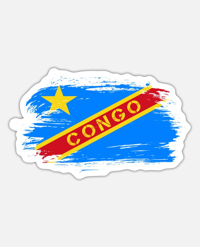 Kolwezi Stickers - Congo Flags Design / Gift Idea - Sticker white matte