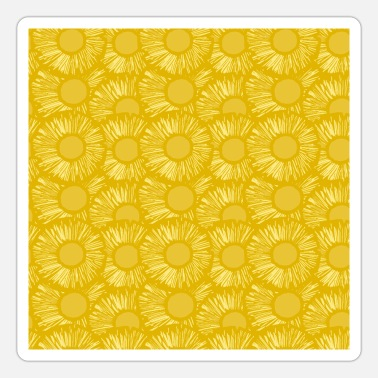 Sliced Fruit Pineapple Slices Yellow Tropical Hawaii Summer - Sticker