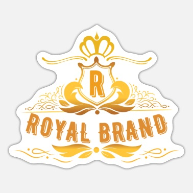 Brand Logo . Royal brand. Brand is brand. My brand. - Sticker