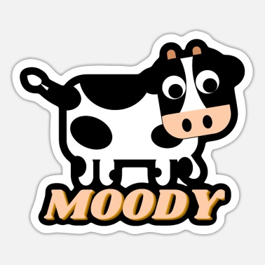 Moody Moody Cow - Sticker