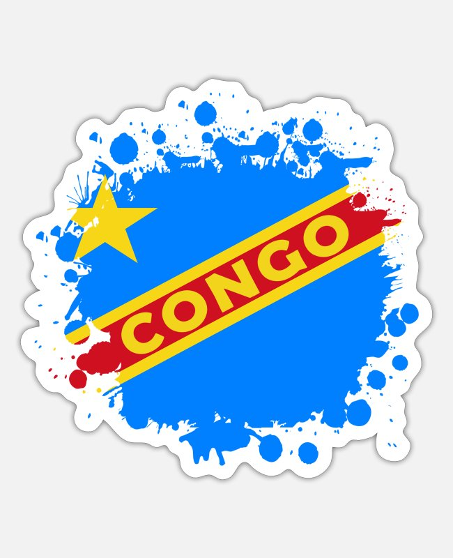Blob Stickers - Congo Splash Design - Sticker white matte