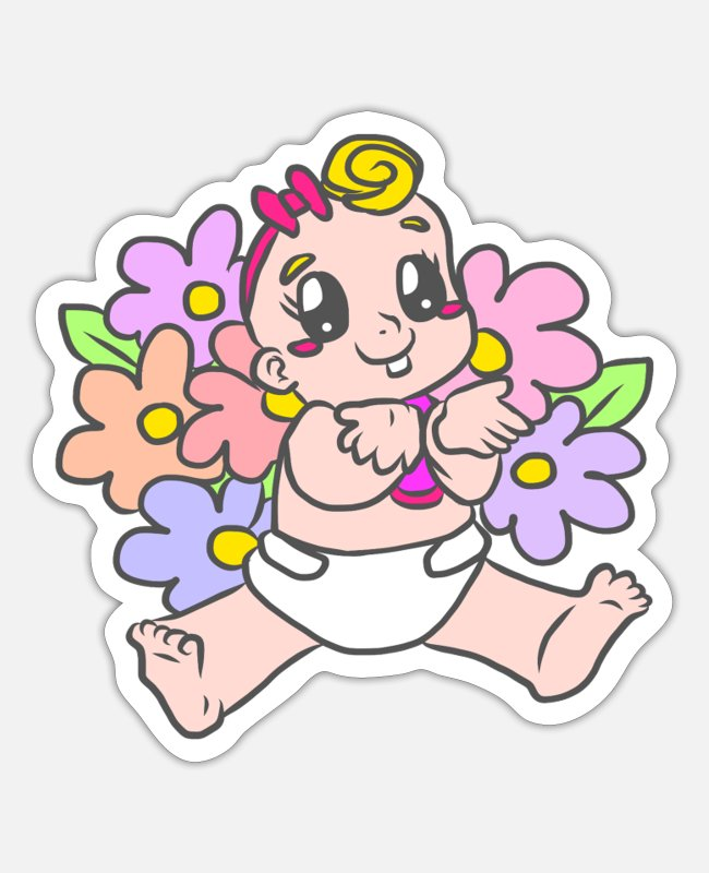 Babysitter Stickers - BABY GIFTS - Sticker white matte