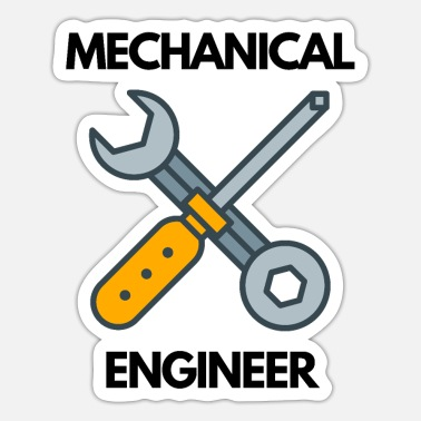 Engineering Funny Mechanical Engineer Design - Sticker