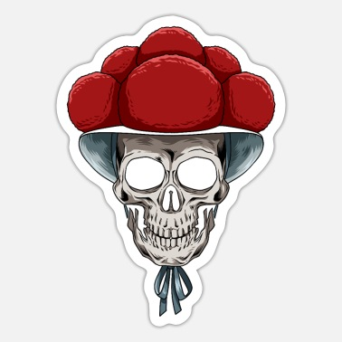 Black Forest Bollenhut Skull Black Forest for a Black Forest - Sticker