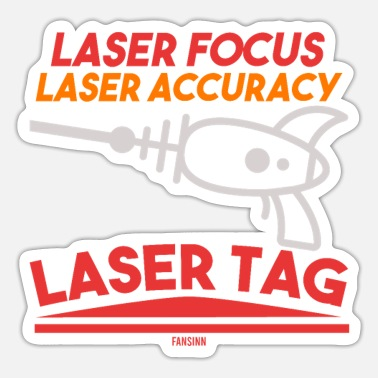 Accuracy Laser Focus Laser Accuracy Lasertag - Sticker