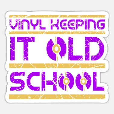 Turn Table Vinyl Old School Turn Tables Disc Jockey Gift - Sticker