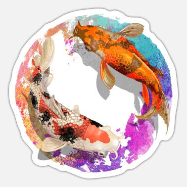 Pond Nishikigoi I Koi Carp I Japan & Breeding Fans - Sticker