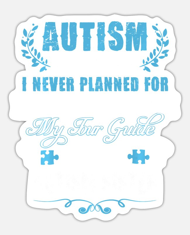 Autism Stickers - Autism Sister Journey Love Quote Autism Awareness - Sticker white matte
