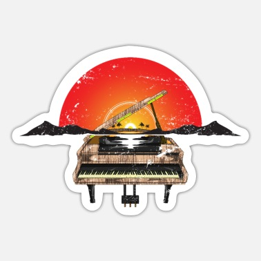 Instrument Piano melody gift idea - Sticker