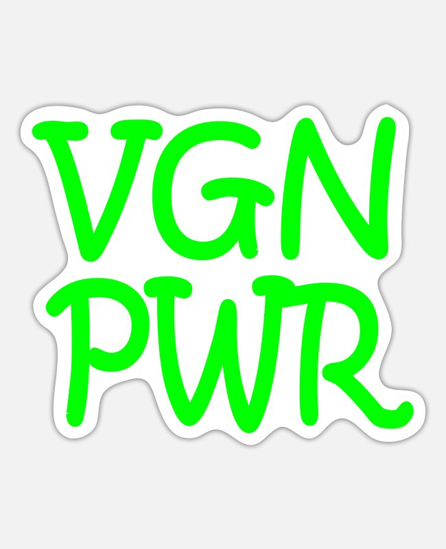 Father's Day Stickers - VGN PWR - Sticker white matte