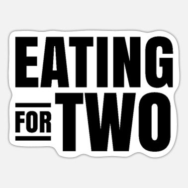 Eating for two Pregnancy Twin Cravings Triplet - Sticker