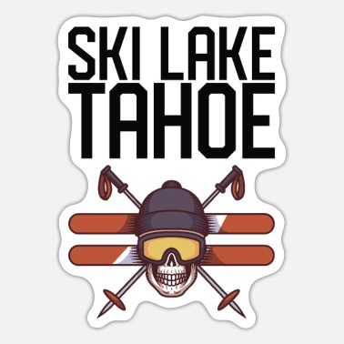 Lake Tahoe Ski Lake Tahoe - Sticker