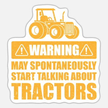 Farmer Warning may spontaneously start talking gift - Sticker