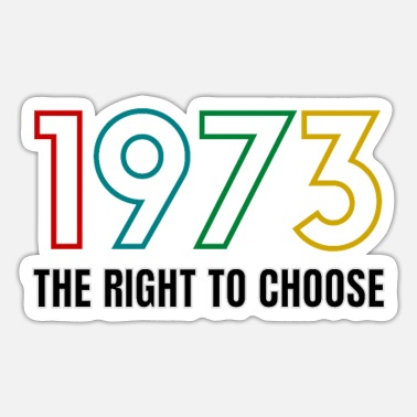 Choice Vintage Defend Roe 1973 Pro-Choice - Sticker