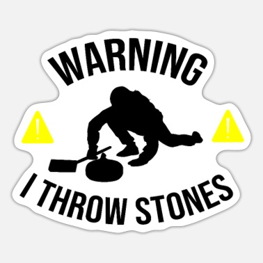 Sport I Throw Stones | Funny Curling Player Gift - Sticker