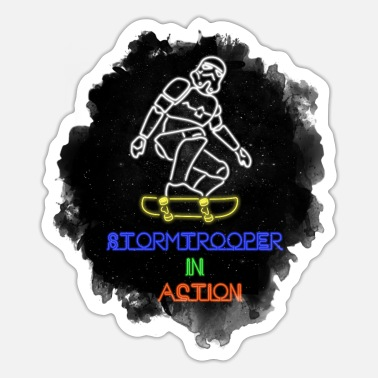 Sci-fi Sci-FI Stormtrooper in action - Sticker