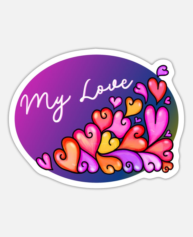 Engagement Stickers - My Love - Sticker white matte