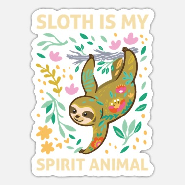 Funny Animals Sloth Spirit Animal funny animals - Sticker