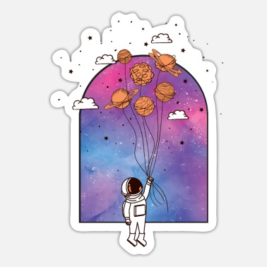Spaceart The window to the endless space - Sticker