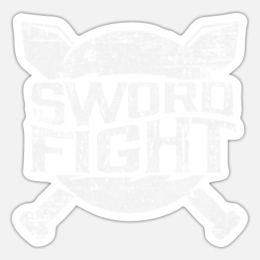 Sword Fight Sword Fighting Knight Middle Ages - Sticker