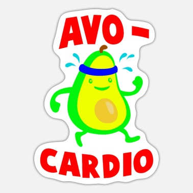 Avocardio Avocardio Funny Workout Tropical Fruit - Sticker
