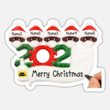 Personalized Personalized Family Christmas - Sticker