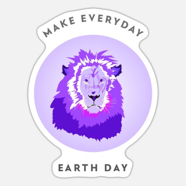 Enviromental Make Everyday Earthday Lion Nature Enviromental S - Sticker