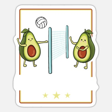 Funny Volleyball Volleyball Funny Avocado Volleyball Player Mother - Sticker