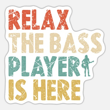 Bass Player Bass Player Bass Player - Sticker