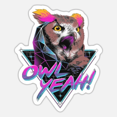 Star OWL SYNTHWAVE - Sticker