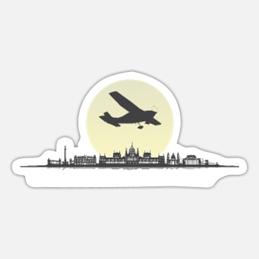 Danube Budapest night city Hungary capital city Danube - Sticker