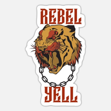 Yell REBEL YELL GOLD AND RED - Sticker