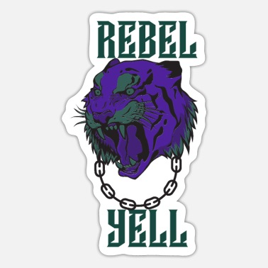 Yell REBEL YELL PURPLE AND GREEN - Sticker