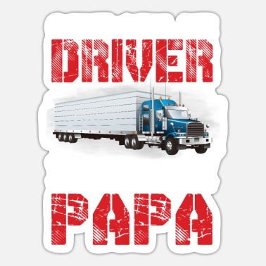 Trucker Dad Trucker Dad Truck Driver Tshirt Gift For Truckers - Sticker