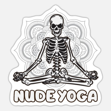 Bengali Nude Yoga Skeletton - Sticker