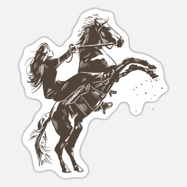 Equitation girl Working-Equitation - Sticker